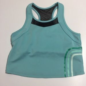 Threads 4 thought teal sports bra built in croptop